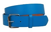 Ladie's Blue Leather Belt